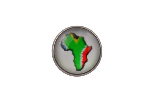 Africa Map Lapel Pin Badge