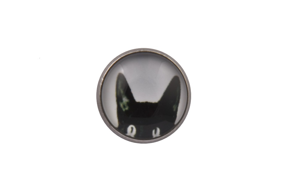Black Cat Lapel Pin Badge