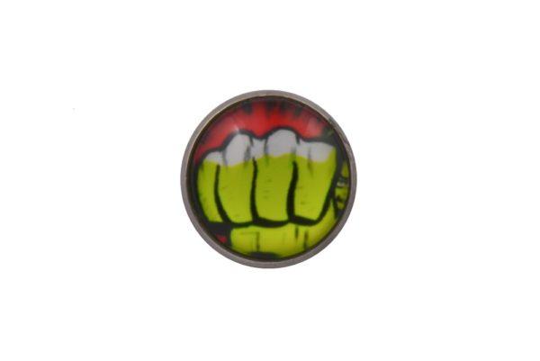Comic Book Hulk Fist Lapel Pin Badge