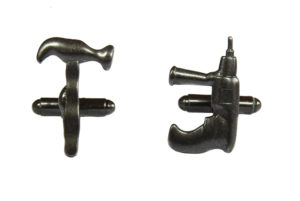 Hammer and Drill Tools Cufflinks