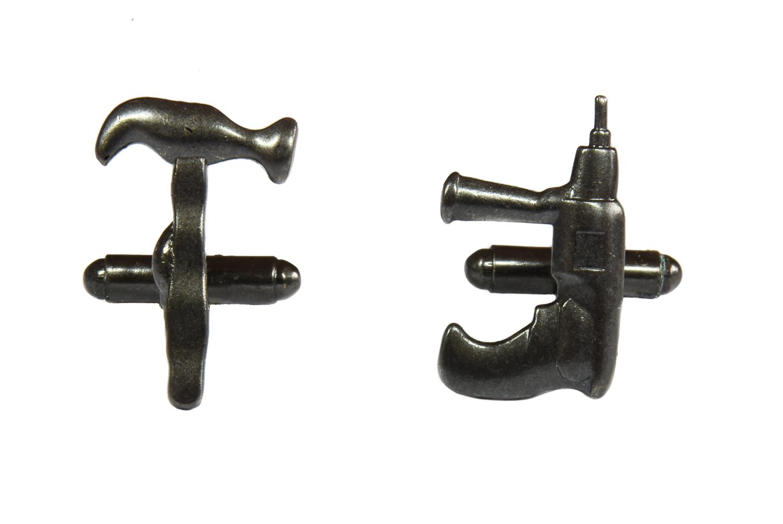 Hammer and Drill Tools Cufflinks
