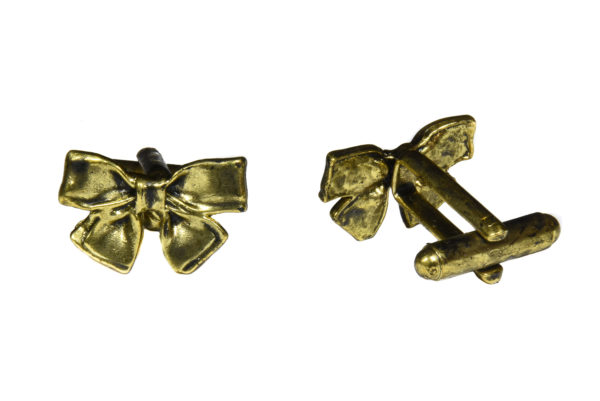 Gold Bow Cufflinks