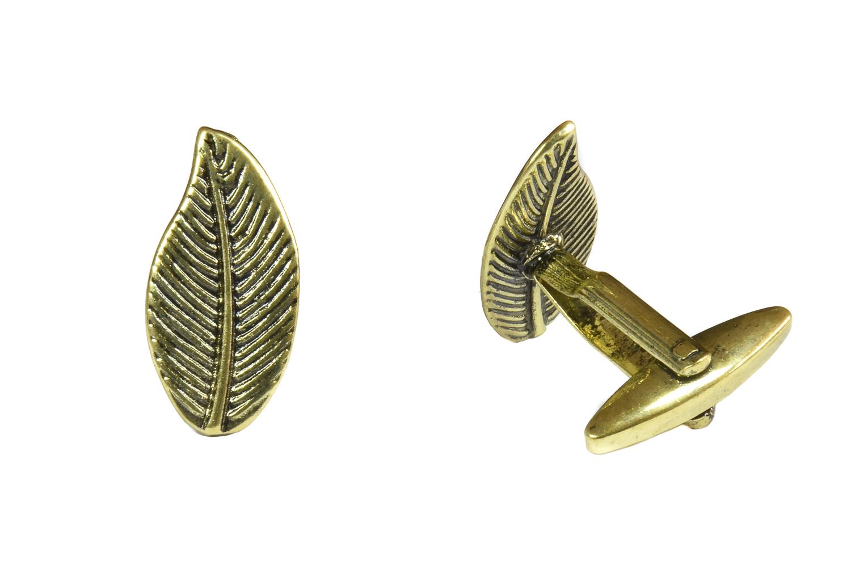Gold Leaf Cufflinks