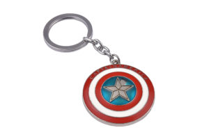 Superhero Captain America Shield Keyring