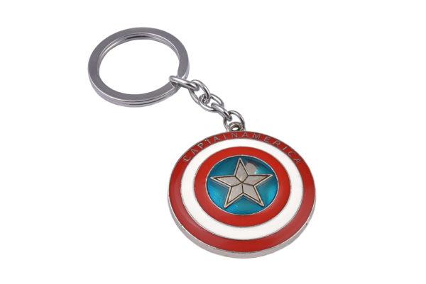 Superhero Captain America Shield Keyring