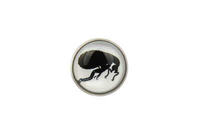 Flea Silhouette Lapel Pin