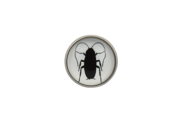 Cockroach Silhouette Lapel Pin