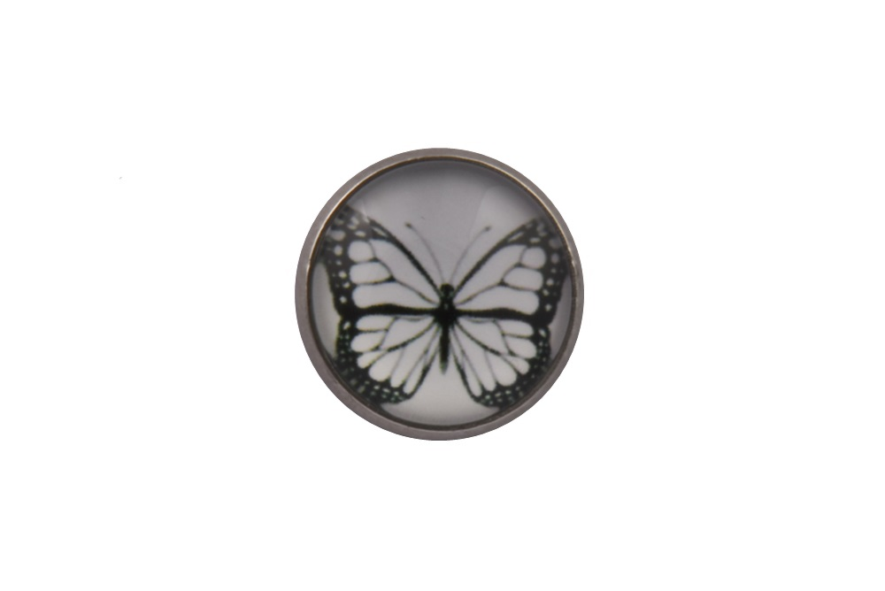 White Butterfly Lapel Pin
