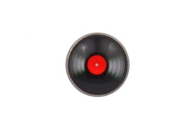 Vinyl Red Lapel Pin