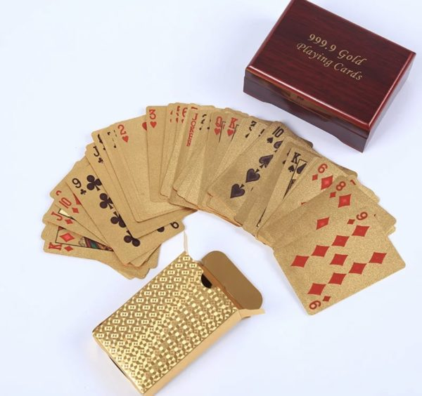 Real Gold Playing Cards