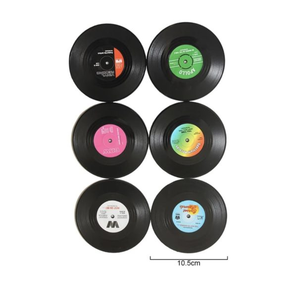 Vinyl Record Coaster Set
