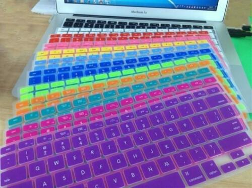 "Silicone Keyboard Cover Skin For Apple Macbook 13"" with FREE Screen Protector"