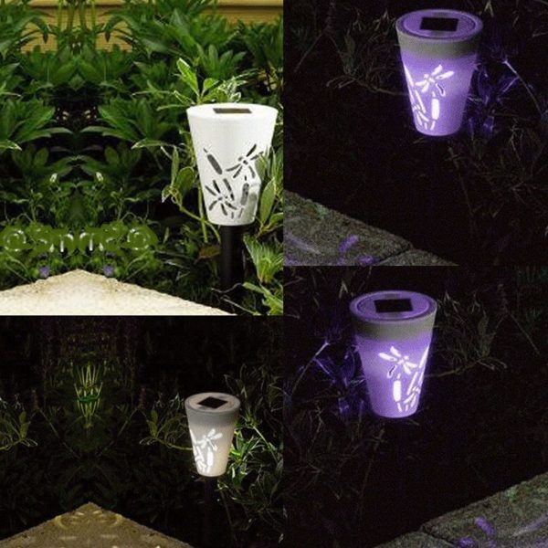 Colour Changing Solar Silhouette Stake Lights