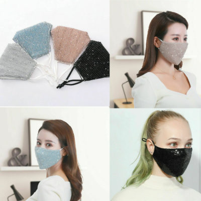 Washable Reusable Sequin Face Mask