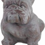Sitting Bulldog Cement Ornament