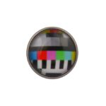 TV Test Card Lapel Pin