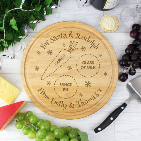 Personalised Christmas Santa Treats Board