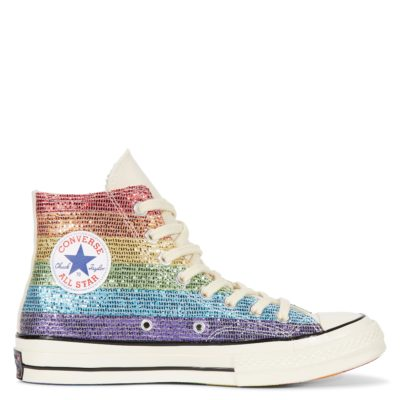 Converse X Miley Cyrus Chuck Taylor All Star Rainbow Limited Edition Trainers