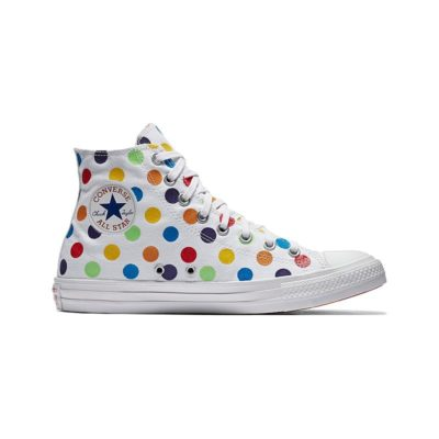 Converse Pride x Miley Cyrus Chuck Taylor All Star High Top Polka Dot Trainers