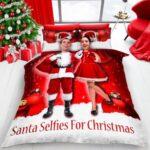 Christmas Santa Selfie Duvet Cover