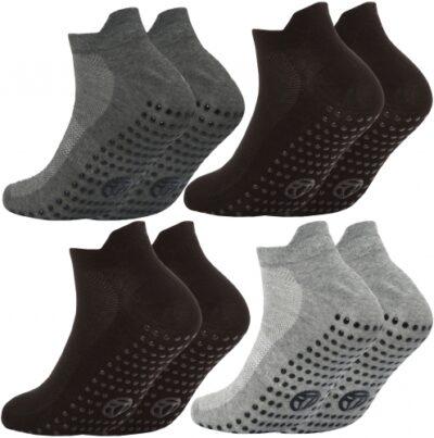 Gripper Sole Trainer Liner Socks (Triple Pack)