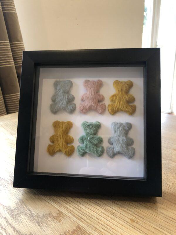 Furry Teddy Bear Frame Art
