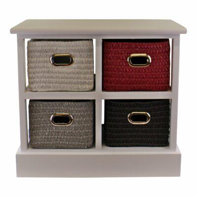Multicoloured 4 Drawer Storage Unit